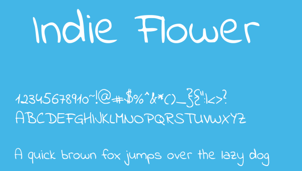 Indie Flower Font Free Download