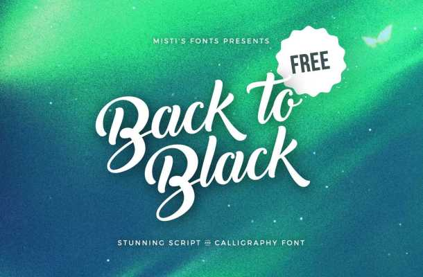 Back to Black – Script & Calligraphy Font