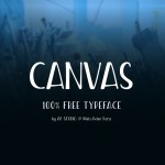 Canvas – Free Condensed Font