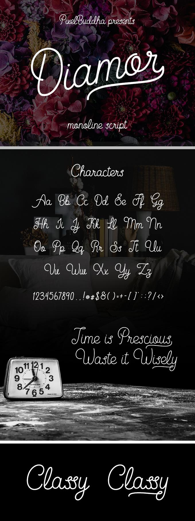 Diamor Script Font Free Free Fonts