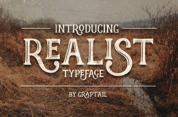 Realist Typeface Font