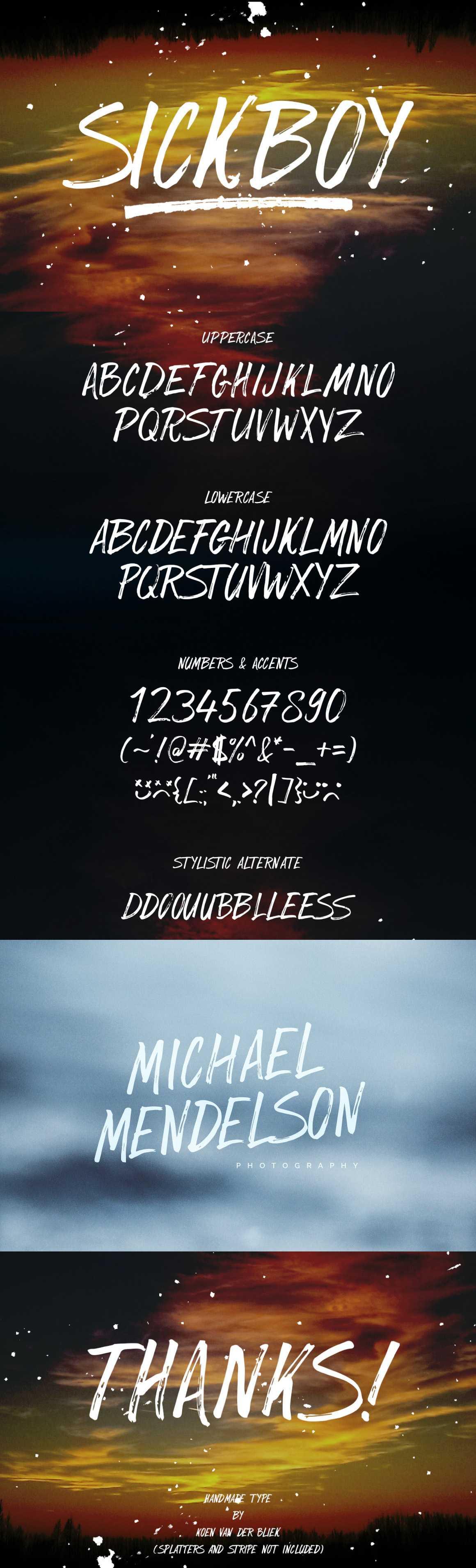 Sickboy font free