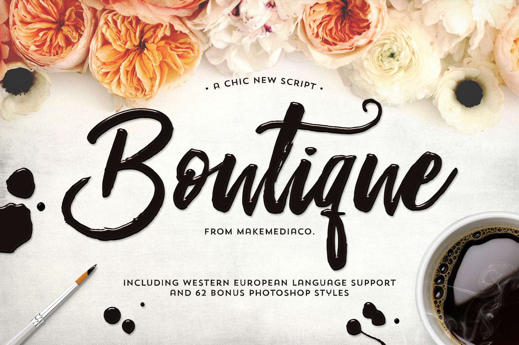Boutique Script + PSD Styles - Free Fonts