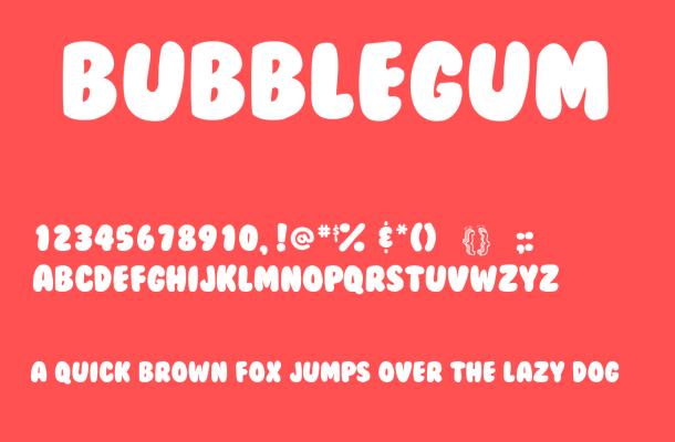 BubbleGum Font Free