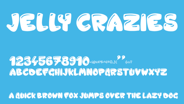 Jelly Crazies Font Free