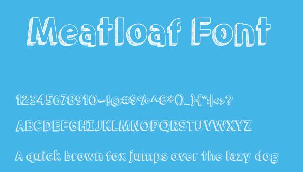 Meatloaf Font Free