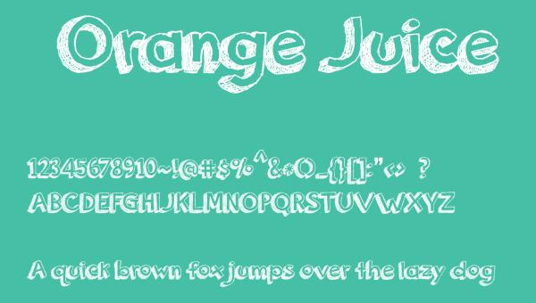 Orange Juice Font Free