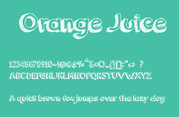 Orange Juice Font Free