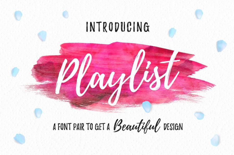 Playlist Free Font