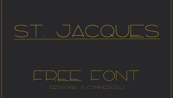 St. Jacques – Free Font
