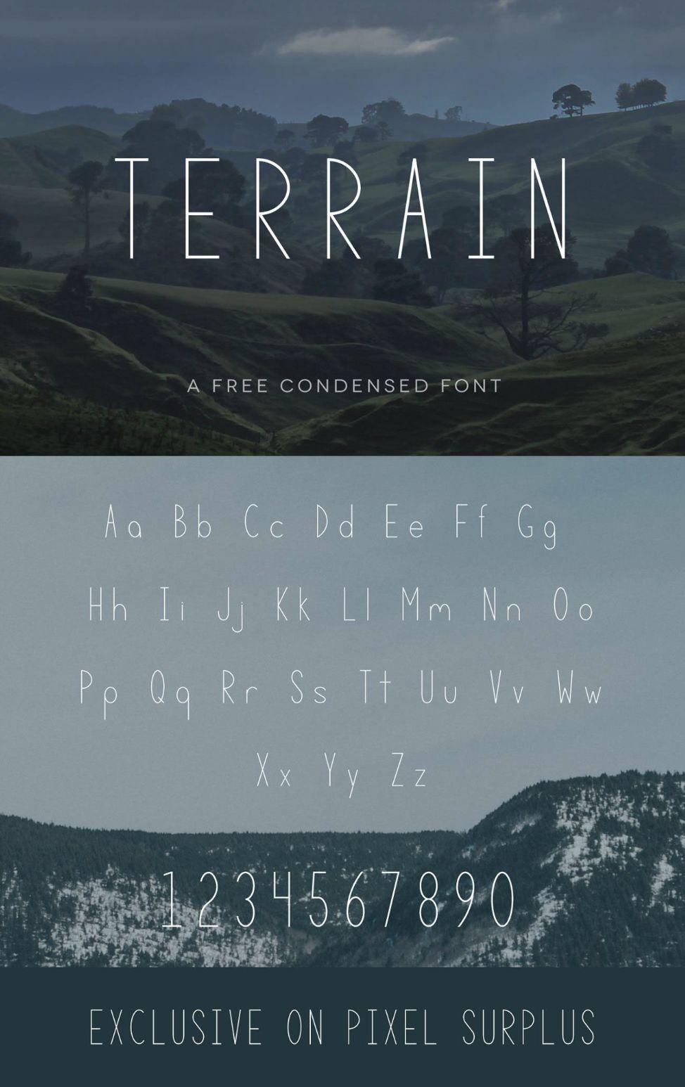 TERRAIN - FREE FONT on Behance