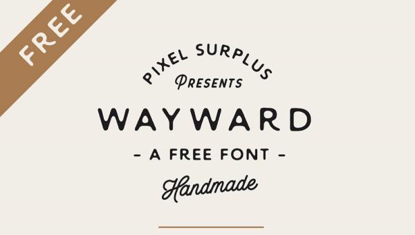 Wayward – Free Hand Letter Font