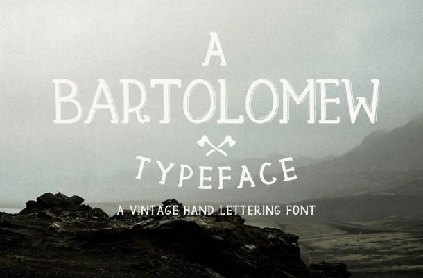 Bartolomew – Free Vintage Font