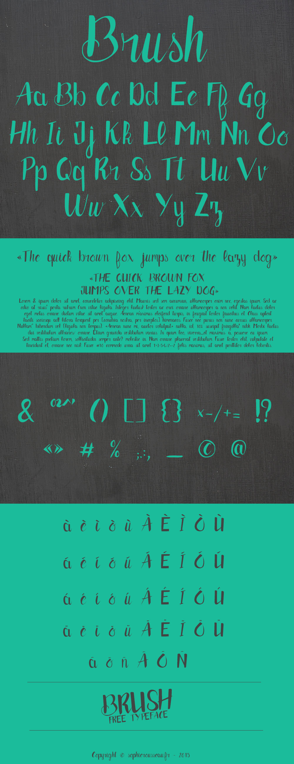 brush typeface banner