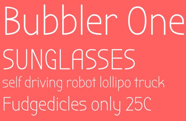 Bubbler One – Free Sans Serif Font