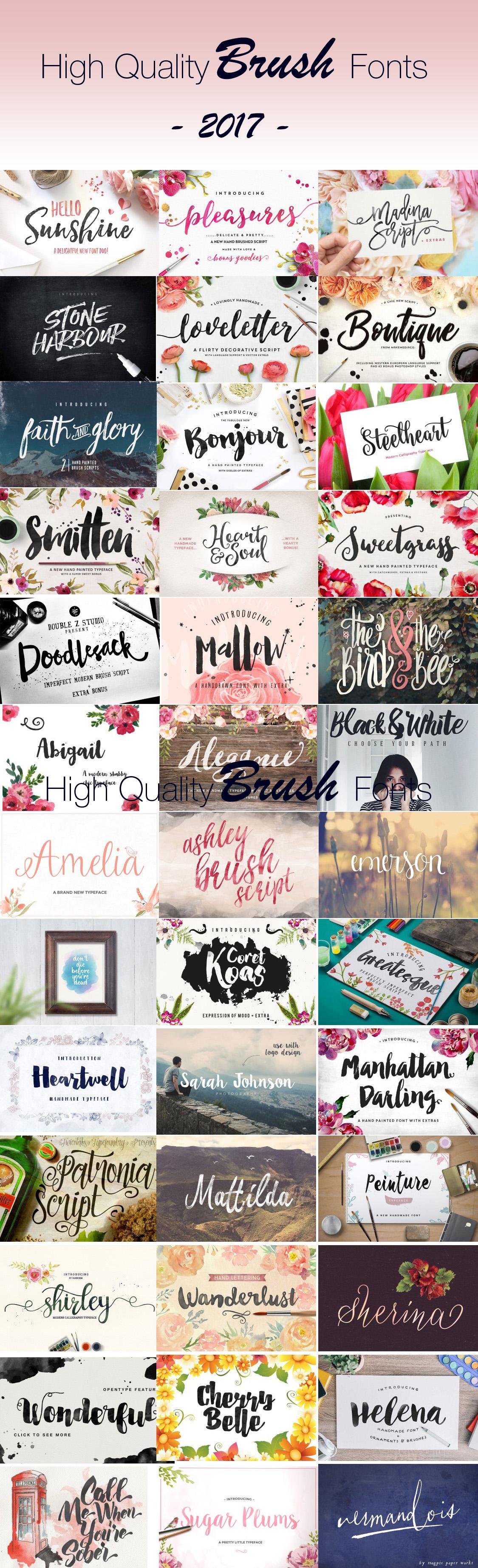 high quality brush fonts