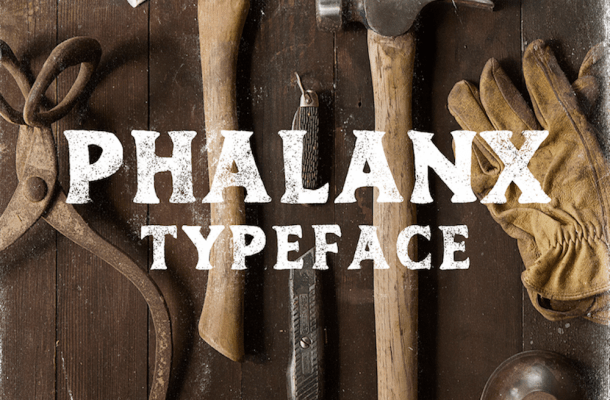 Phalanx – Free Hand Drawn Font