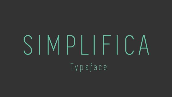 Simplifica Free Font