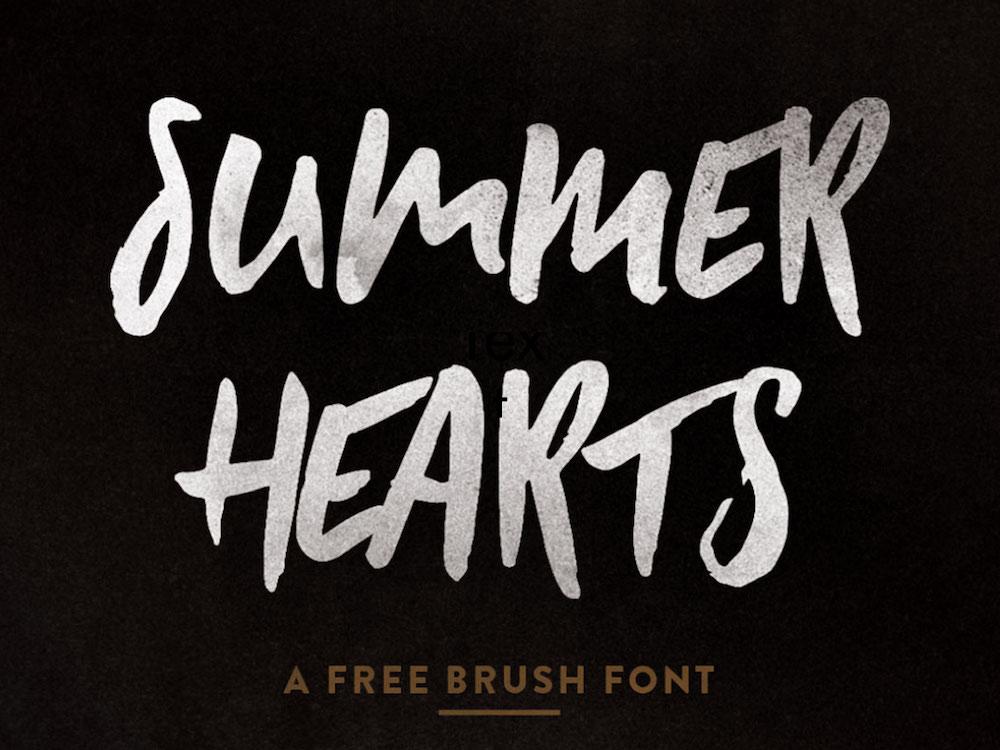 summer hearts - free brush font