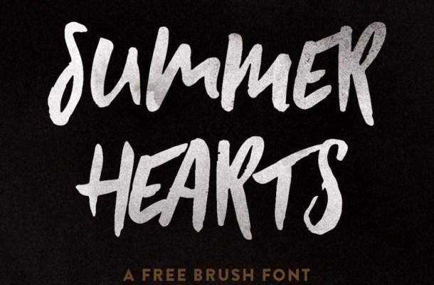Summer Hearts – Free Brush Font
