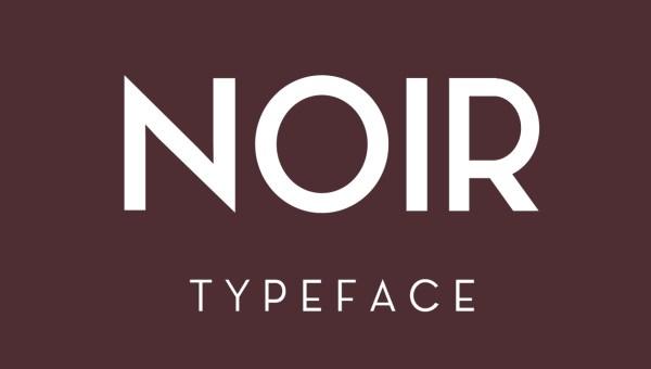 NOIR Free Typeface