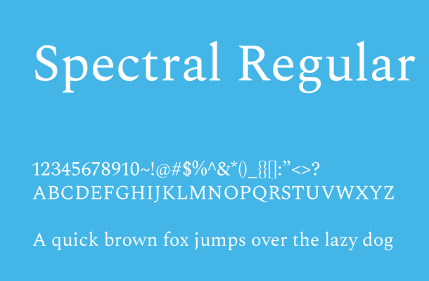 Spectral Font Family
