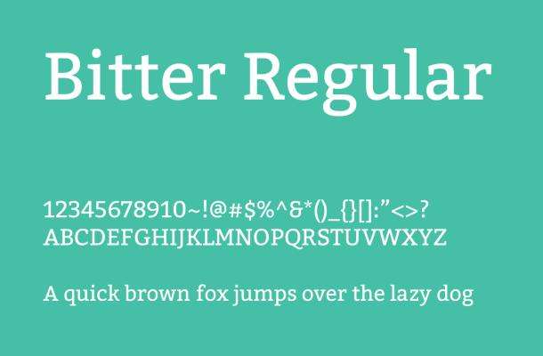 Bitter Font Family