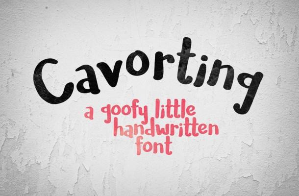 Cavorting Free Handwritten Font