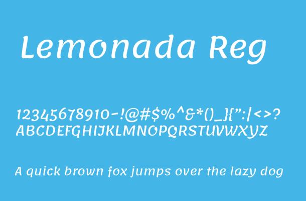 Lemonada Font Family