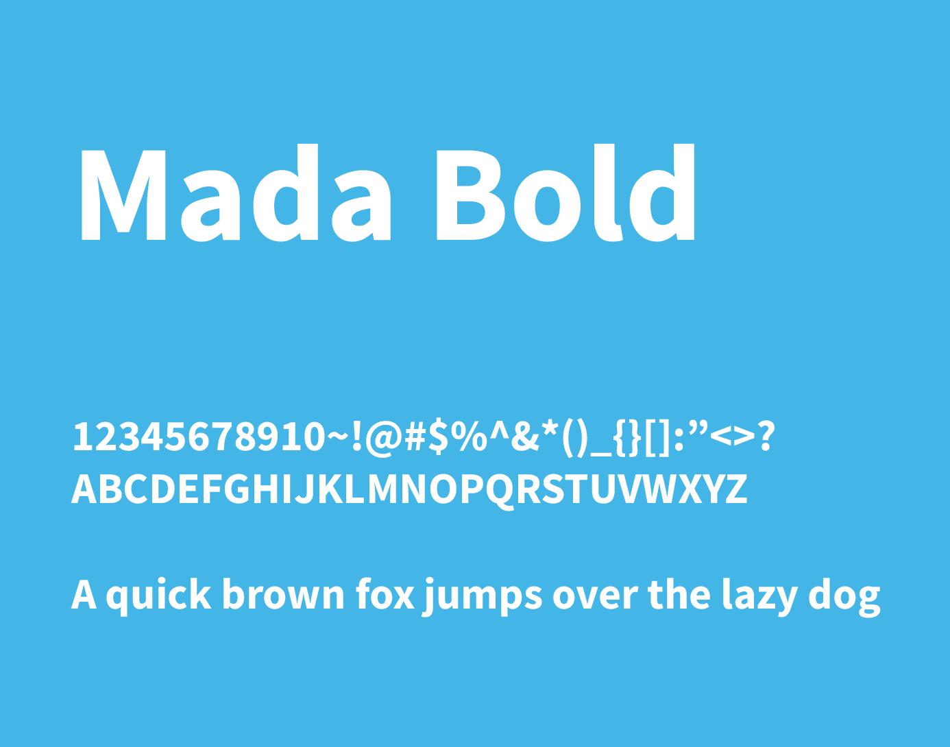 mada bold