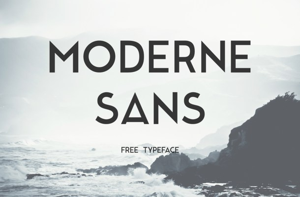 Moderne Sans Free Typeface