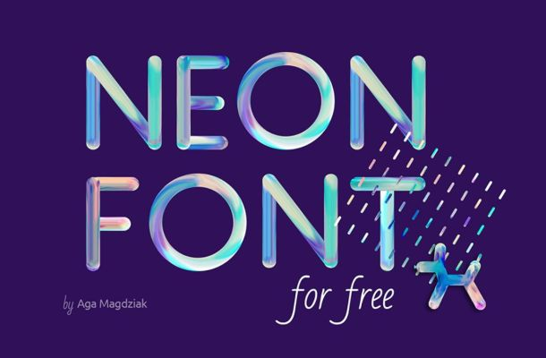 NEON Free Font in PSD