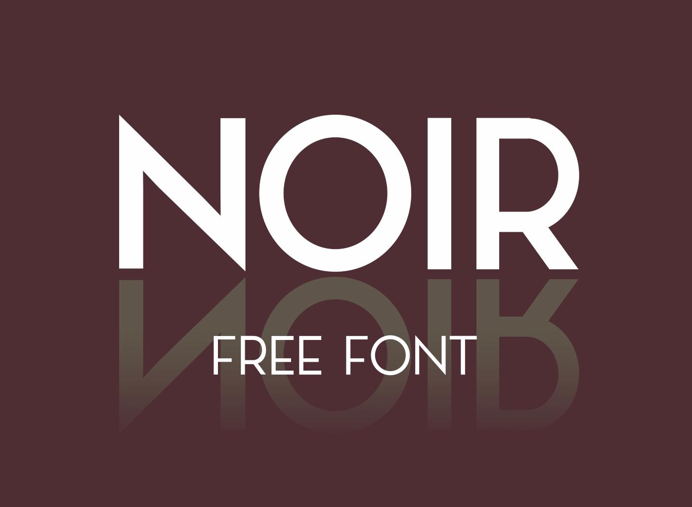 NOIR Free Typeface - Free Fonts