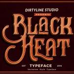 Black Heat Free Vintage Font
