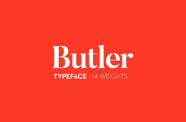 Butler Free Font Family