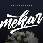 Mekar Brush Script Font