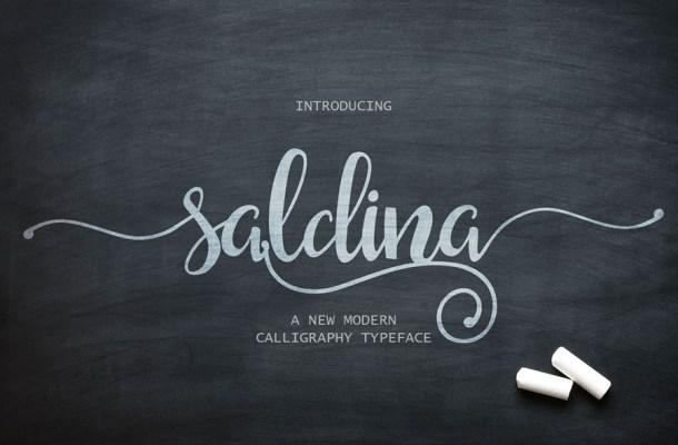 Saldina Free Font