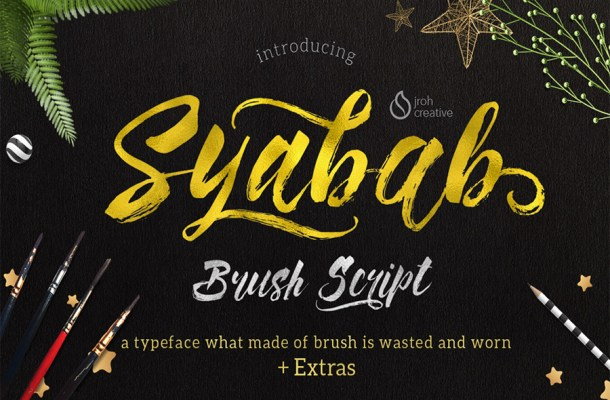 Syabab Free Brush Script Font
