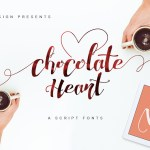 Chocolate Heart Free Calligraphy Font