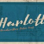 Harlott Free Handwritten Retro Font