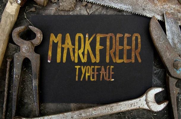 Markfreer Free Hand Drawn Font