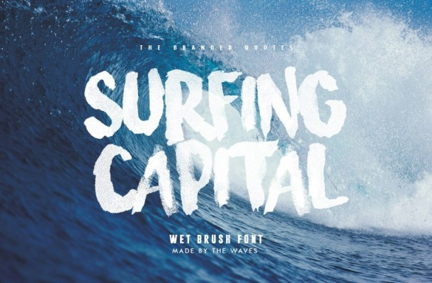 Surfing Capital Free Wet Brush Font