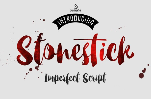 Stonestick Imperfect Script Font Free