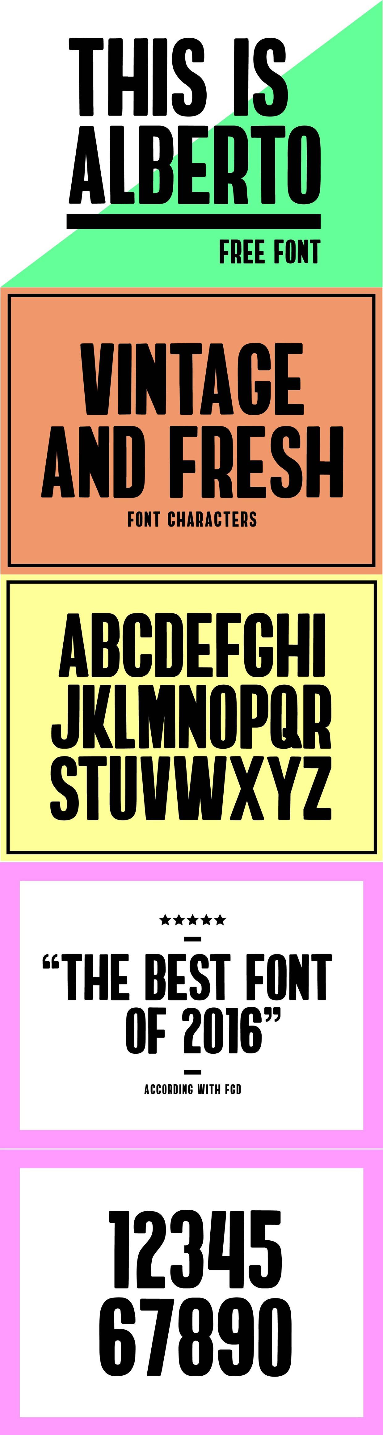 Alberto font typeface