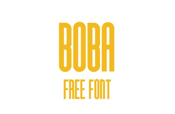 Boba Free Display Font