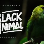 Black Animal Free Typeface