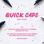 Quick Caps Free Font