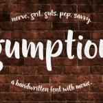 Gumption Lite Free Handwritten Font