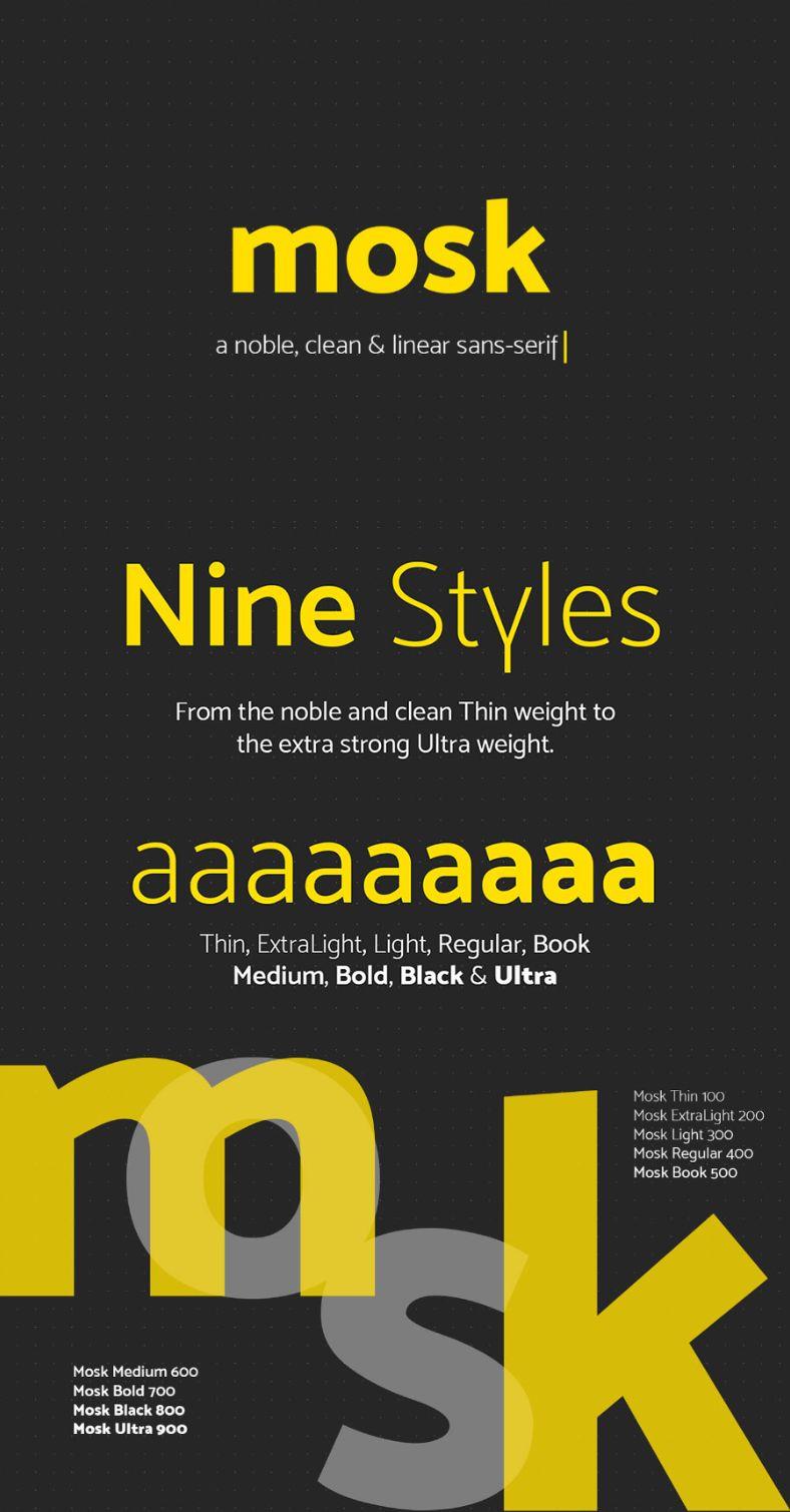Mosk - Free Typeface