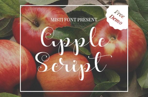 Apple Script Free Font
